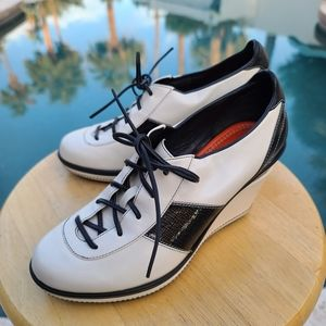 Vtg Cole Haan Nike Air Oxfords Lace Up Wedges 6